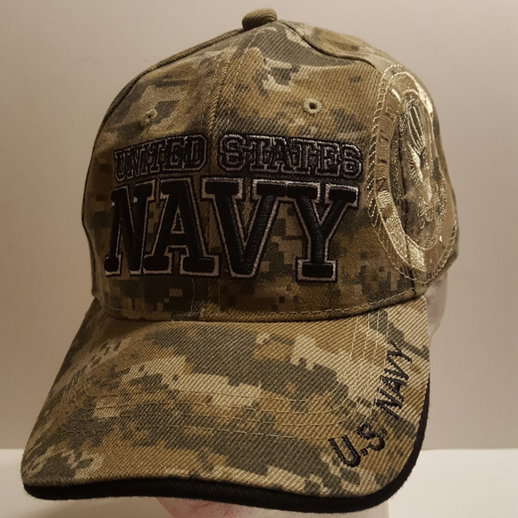 c9beb2c0cc6 U.S. NAVY Hat Camo Military Officially Licensed by